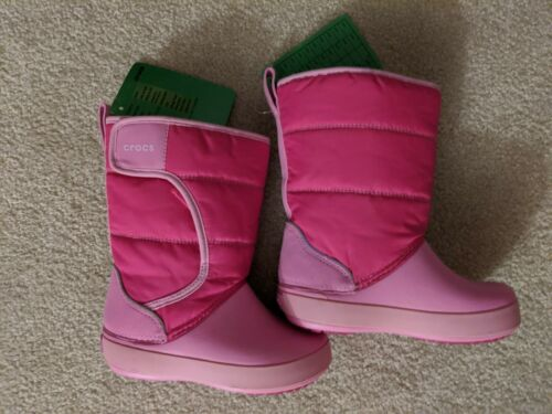 Kids Girls Crocs Size 10 Winter / Rain Pink Boots