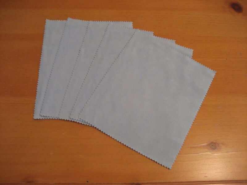 (25) - MICROFIBER SOFT SUEDE LENS EYEGLASS CLEANING CLOTHS - Made in Korea
