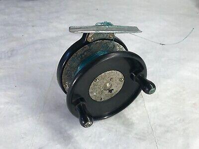 Tha Milbro vintage fishing reel 4 Inch diameter .Bakelite