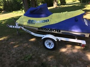 Trade 2  single seadoo trailers for double