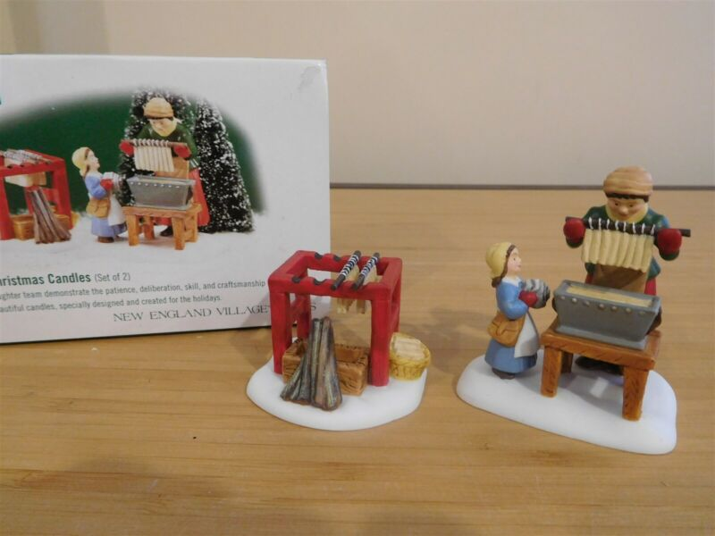 Dept 56 New England Village - Making The Christmas Candles - Set of 2 -Free Ship