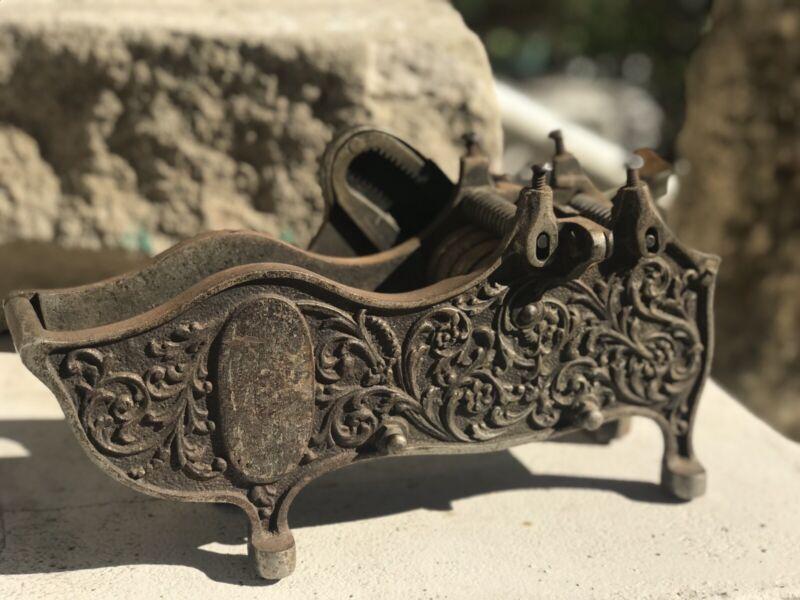Antique Victorian Circa 1800s Large Tape Dispenser Metal Cast Ornate