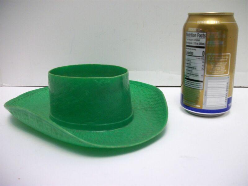 Vtg Green Plastic Cowboy Hat Cereal Bowl 1950
