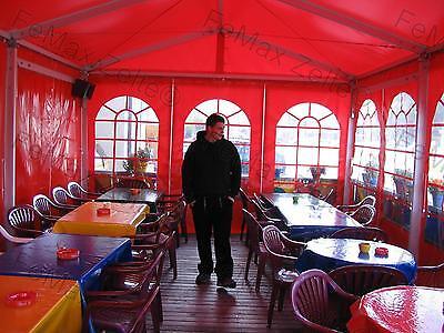 4 x6m / Seite 2,25 m Partyzelt Festzelt Gastrozelt / Farbe: Rot stabile Zelte