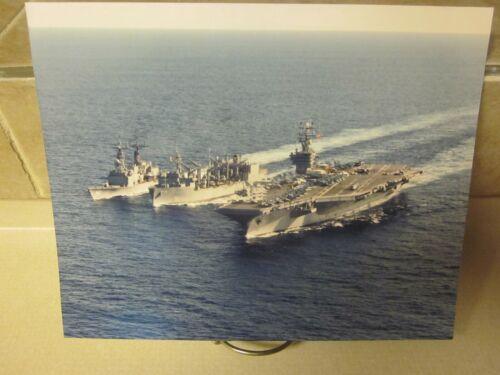 COLOR PHOTOGRAPH of USS WICHITA(AOR-1)USS ENTERPRISE(CVN 65) USS ELLIOT(DD-967)