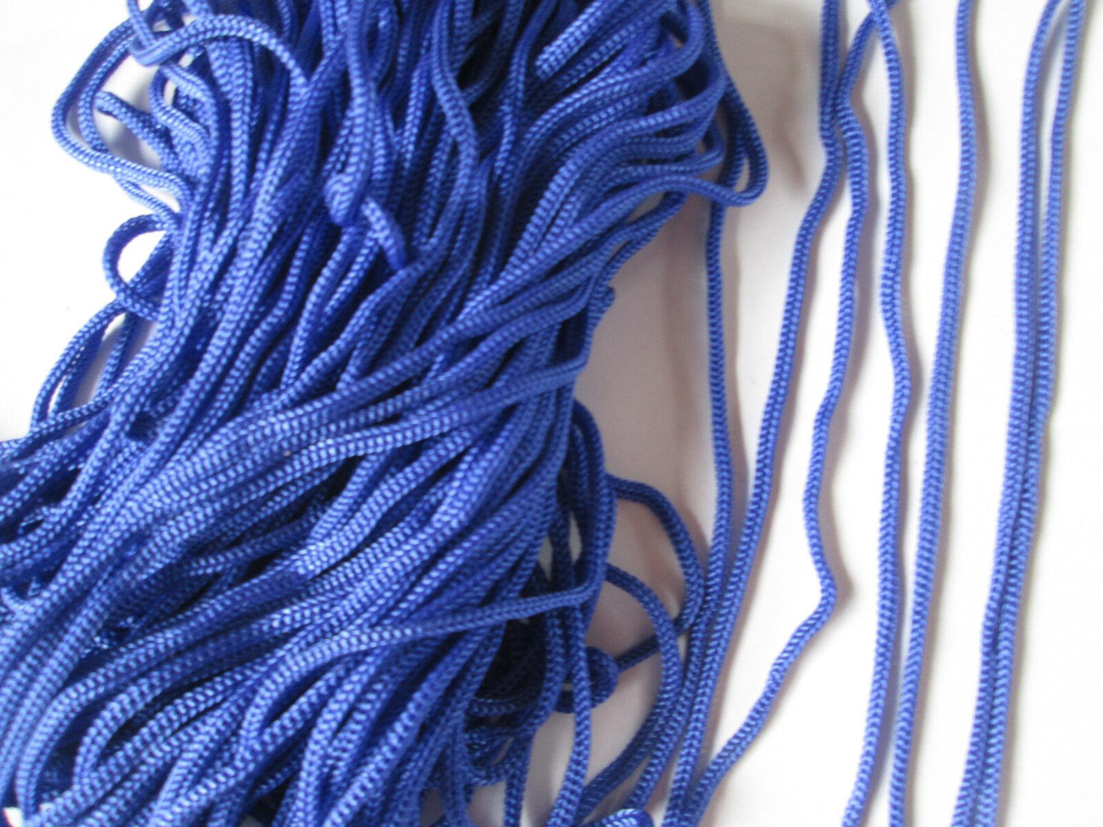 10 METER kordel Satin Royal Blau 5mm elegante Borte Spitze KR 024