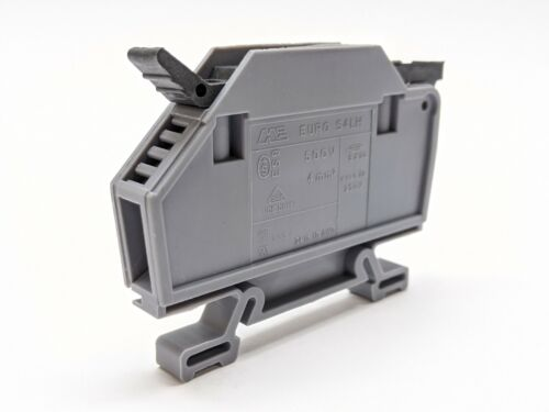 Morsettitalia 43445H Euro S4LH 500V 10mm Gray Fused Terminal Block NO FUSE