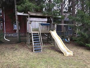 Used Playhouse, slide, swings
