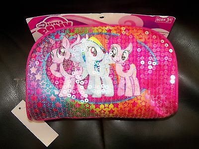 My Little Pony School Supplies (HASBRO MY LITTLE PONY SEQUIN PINK UTILITY CASE ~ SCHOOL SUPPLIES  HTF LAST)
