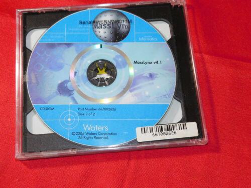Waters MassLynx v4.1, Lab Informatics, 2 CDs; 667002626