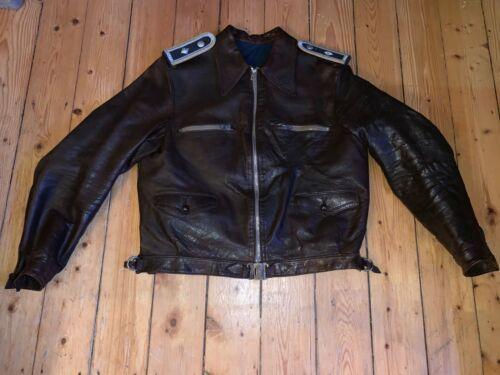 WW2 Luftwaffe German leather flight jacket REINHOLD VON DER STRATEN FLIEGERJACKE