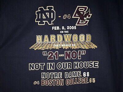 Notre Dame Fighting Irish vs. Boston College Eagles Hoops 2•8•05 Men's T-Shirt L