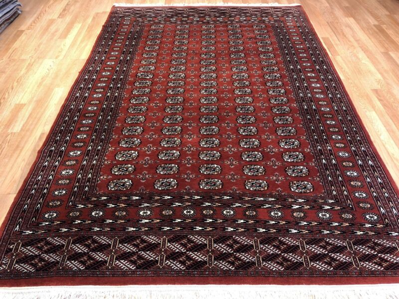 Beautiful Bokhara - Vintage Pakistani Rug - Tribal Oriental Carpet 6.1 X 9 Ft.
