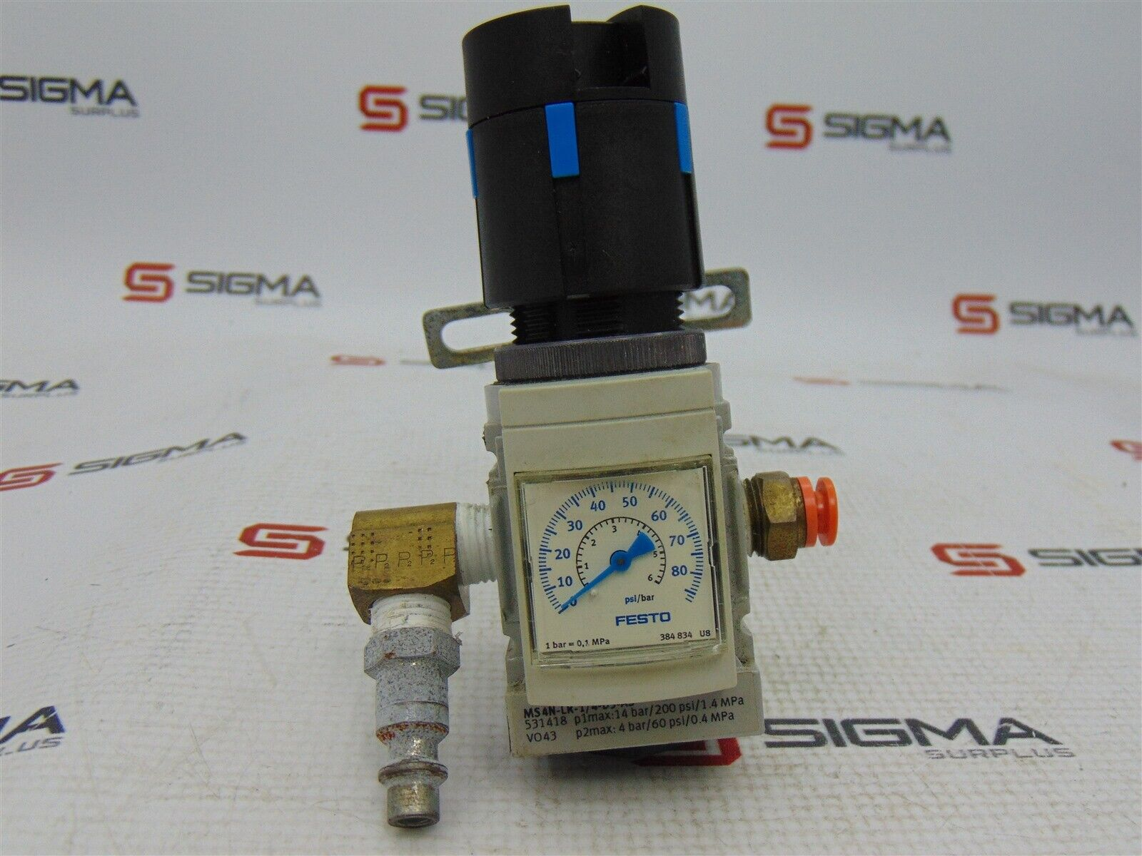 Festo MS4N-LR-1/4-D5-AS Pressure Regulator w/ Gauge