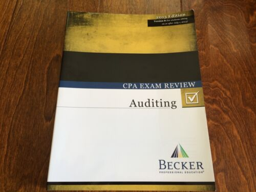 Becker CPA auditing exam review 2013