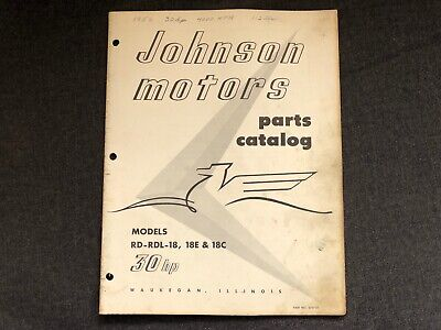 1955 Johnson 25 HP rd-17s rdl-17s RD-17r RDL-17R Outboard Parts Catalog