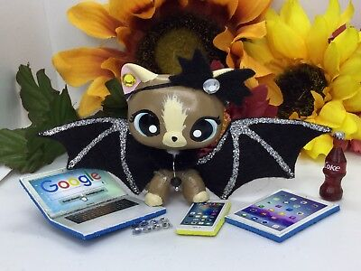 Littlest Pet Shop Custom Accessories BAT WINGS (Silver) LPS PET NOT - Pet Bat