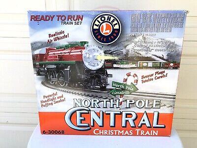 Lionel North Pole Central Christmas Train Set 6-30068 In Original Box.
