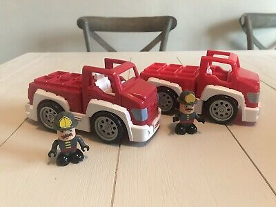 Fisher Price Trio Bloks Firetrucks And Figures: Pre-owned