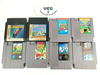 Nintendo NES Game Lot of 8 Bundle Pins Cleaned Retro Collection Canadian Seller