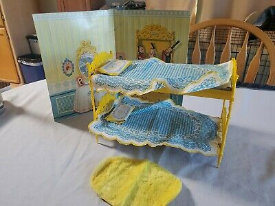 1964 Vintage Barbie Skipper N' Skooter Bunk Beds Go Together Furniture Mattel