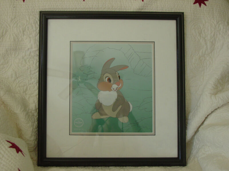 "RARE Disney BAMBI Thumper Sericel - ""They Call Me Thumper"""