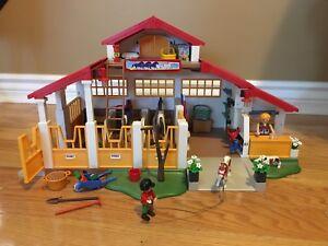 Big lot of pony farm playmobil