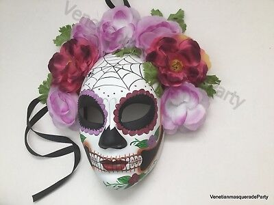 Full Face D? de Muertos Masquerade Ball Mask Day of the Dead Party Wear or Deco (Day Of The Dead Masks)
