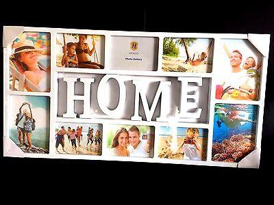 Große Bilderrahmen 3D Fotorahmen 10 Fotos Collage Fotogalerie Bildergalerie HOME (Große Kunststoff-bilderrahmen)