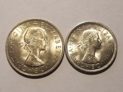 1967 England (UK)  Uncirculated Blazers - 1/2 Crown & 2 Shillings