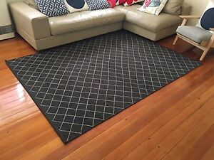 ARMADILLO & CO TWINE WEAVE RUG Charcoal and Limestone 1.7m x 2.4 Cremorne Point North Sydney Area Preview