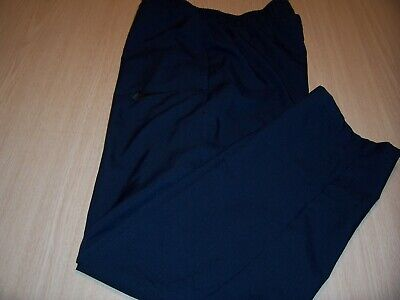 NIKE BLUE LIGHTWEIGHT ATHLETIC PANTS MENS MEDIUM EXCELLENT CONDITION