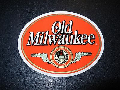 OLD MILWAUKEE classic oval Logo STICKER decal craft beer brewery brewing