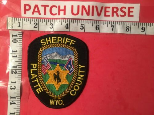 PLATTE  COUNTY  WYOMING SHERIFF  SHOULDER PATCH  O110