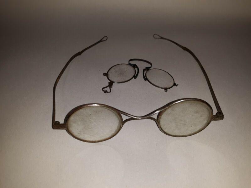 Antique Eyeglasses Steel 2 Pairs