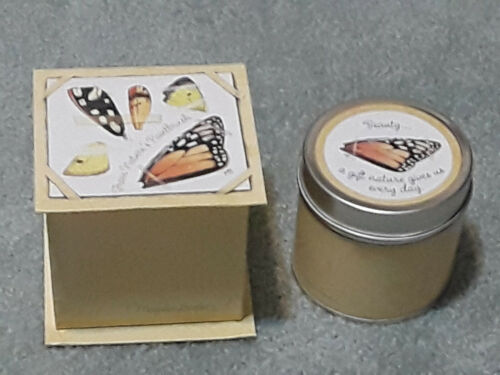 NEW RARE Marjolein Bastin BUTTERFLIES BEAUTY CANDLE IN TIN AND BOX