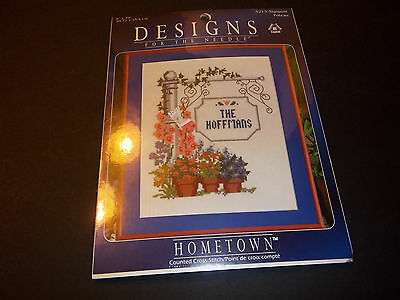 Designs for the Needle Hometown  Sign Post Counted Cross Stitch Kit 5213