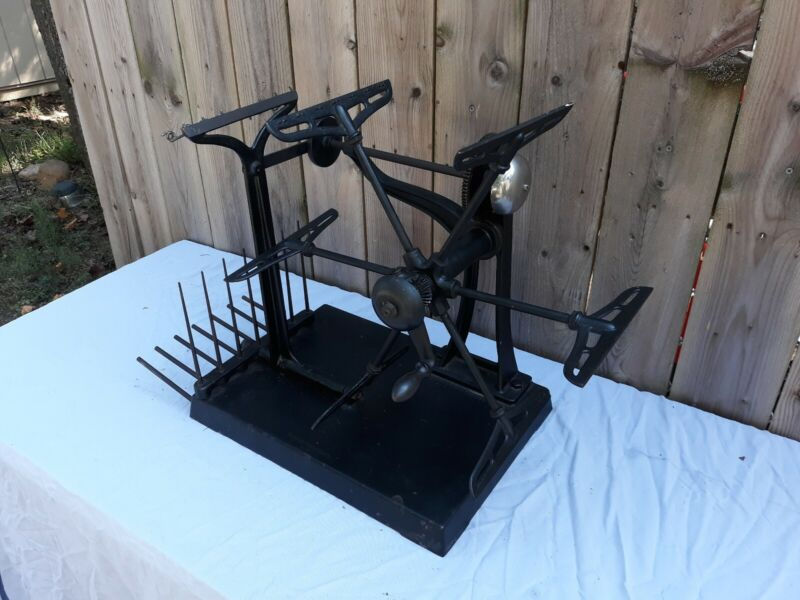 Antique Wool Winder Brown and Sharpe Cast Iron Industrial Sewing Machine