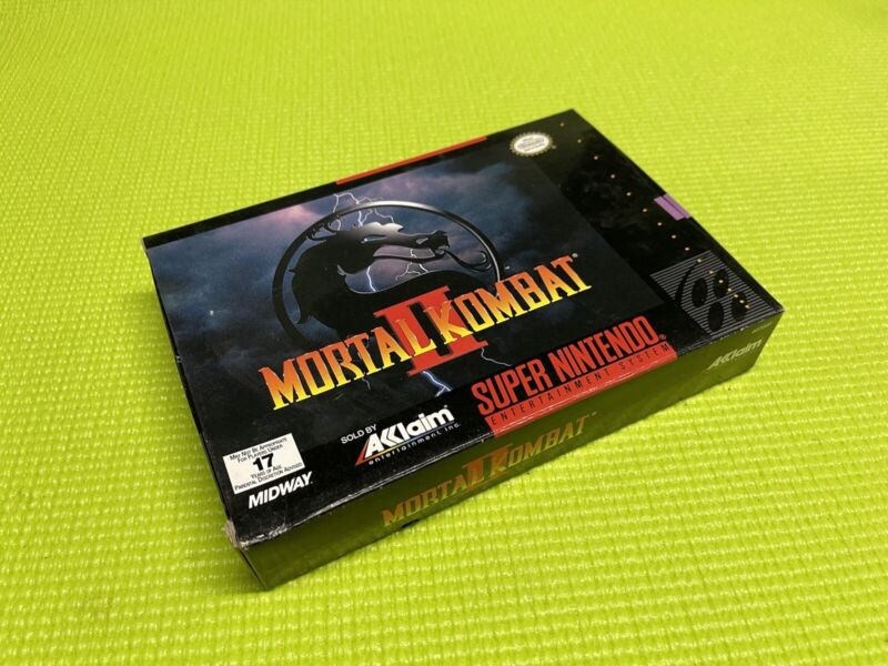Mortal Kombat II  *  Snes Box Only * Super Nintendo Original box