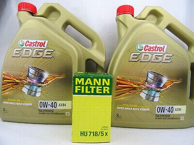 Aceite 0W40 10Liter castrol edge 0W-40 A3/B4 + Filtro de Mann Hu...