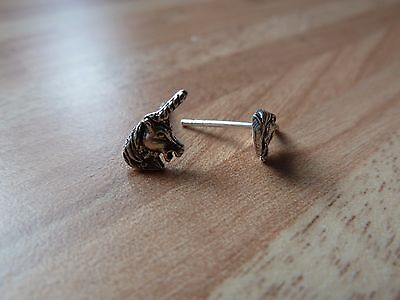 Ohrstecker Ohrring 925er Echt Silber Einhorn Unicorn SO 94