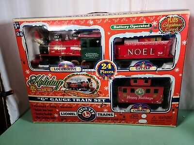 Lionel Trains Vintage Holiday Train Set 14 Feet Of Track G Gaug NEW OPEN BOX
