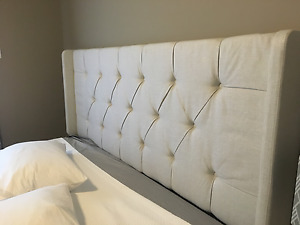 Brand New Linen Upholstered King Headboard