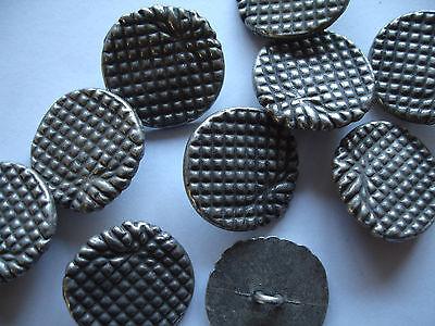 3 Stück ausgefallene Knöpfe Metall geprägt 23mm altsilber Z30.4