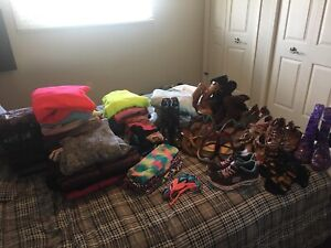 Large lot of girls MEDIUM clothes & size 3/4 footwear