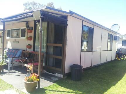 23 ft On-site Caravan,hard annex and new Kitchen Swansea Lake Macquarie Area Preview