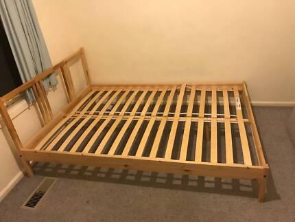 ikea queen size bed mattress $100