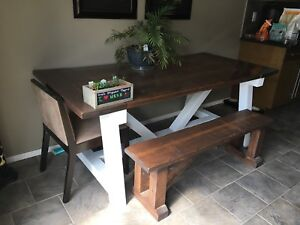 Kitchen Dining Table Bench And Chairs