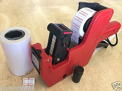 Mx-5500 8 Digits Price Tag Gun Labeler 2000 White Blank Labels 1 Ink