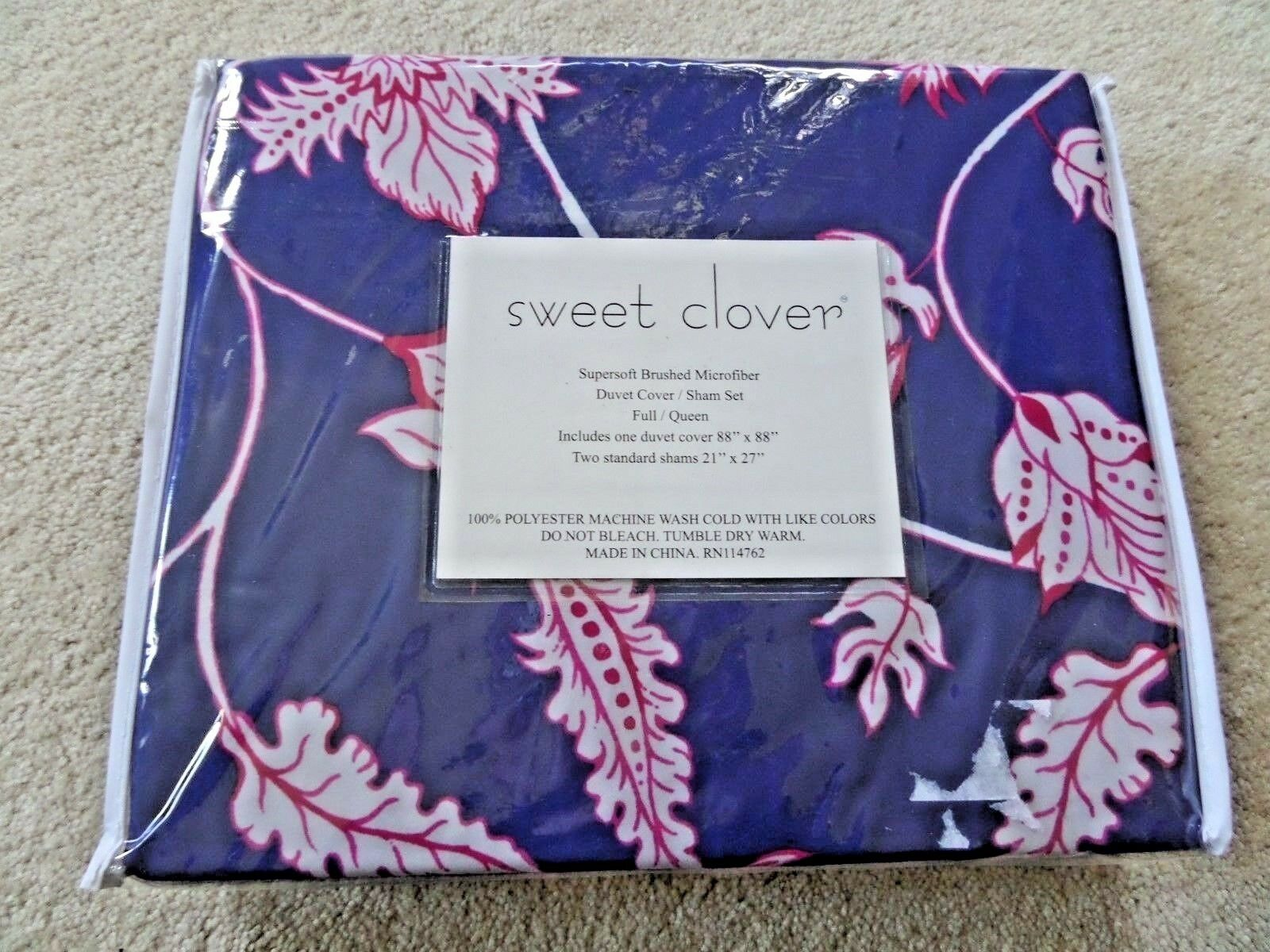 NEW Sweet Clover Dips and Bedspreads Full / Queen Duvet Cove